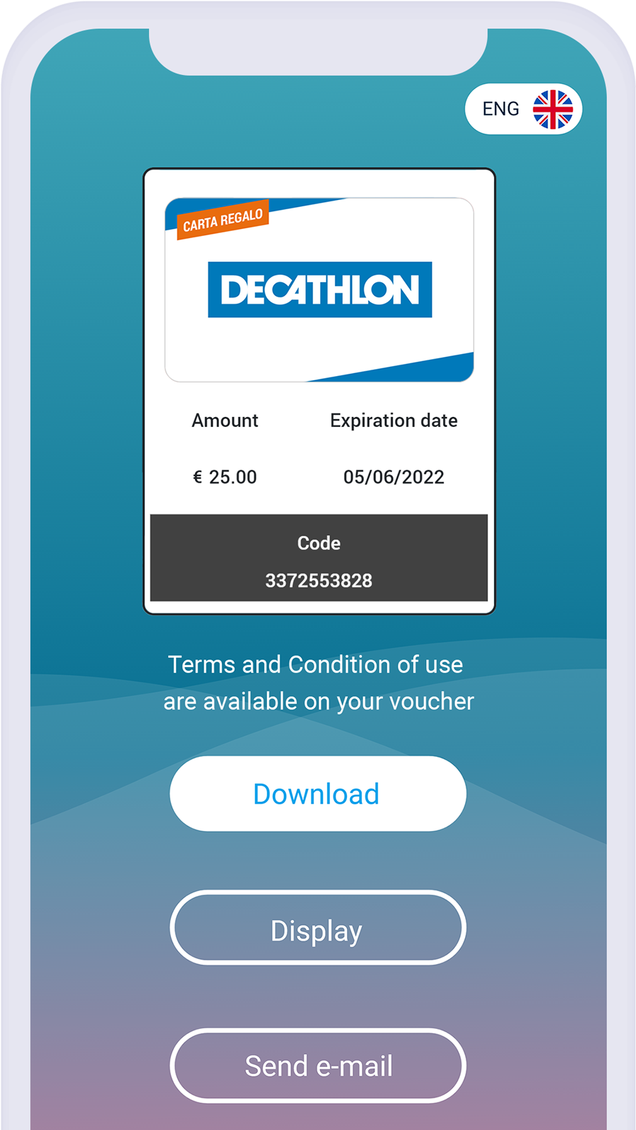 Amilon online gift card download