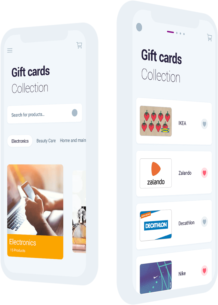 Amilon Gift Cards Collections and Electronics category
